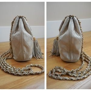 CHANEL Bags - CHANEL~Quilted Flap Top Tassel Bag~Chain Straps